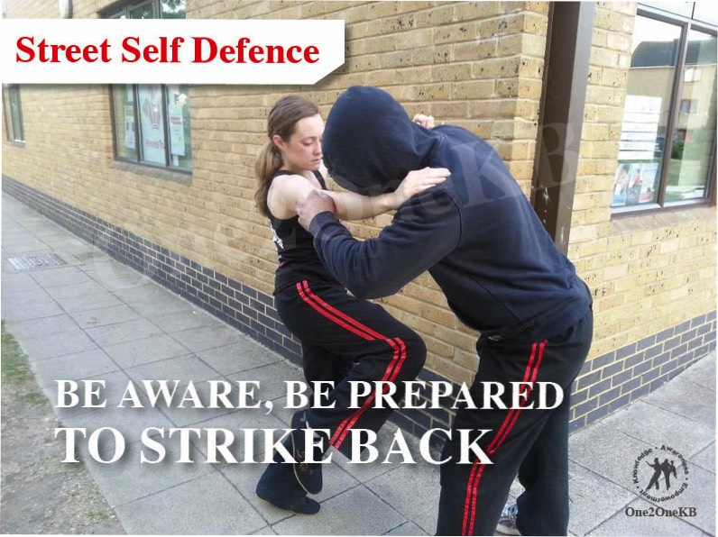 A Student practices Steet Self Defence taught by One2One KB